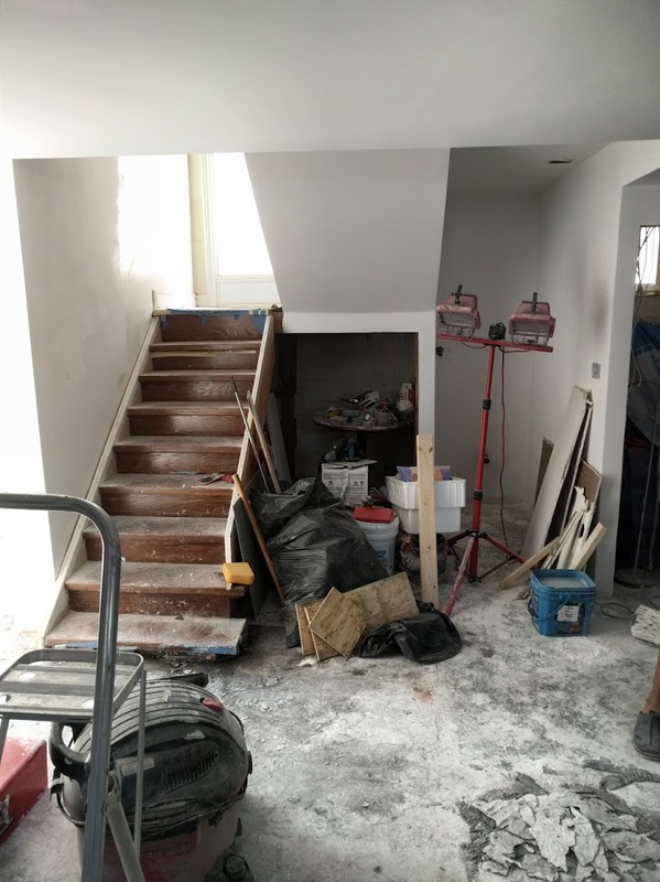 Bar under stairs construction