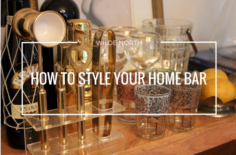 how to style your home bar
