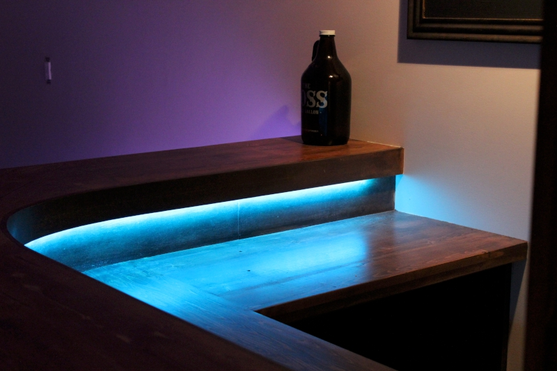 LEDs under counter