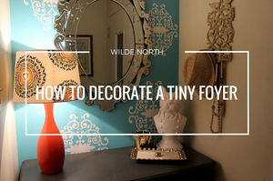 Tips to decorate a small foyer