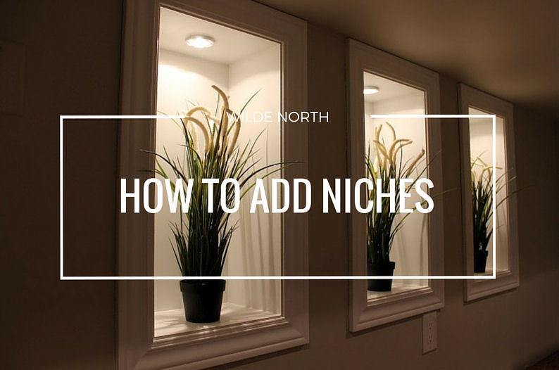 How to add niches in basement