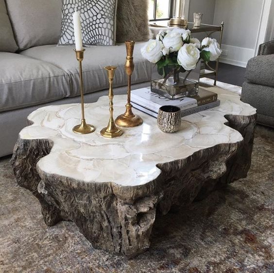 Wood base coffee table