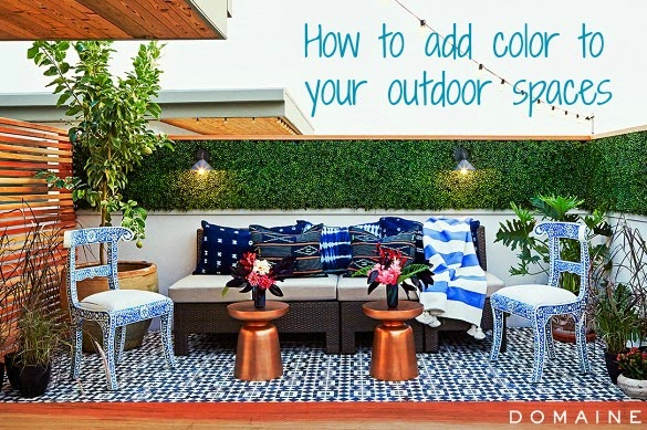 how to add color to backyard