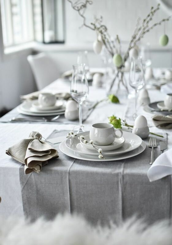 Scandinavian easter table